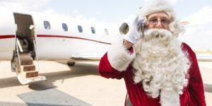 Santa Private Jet